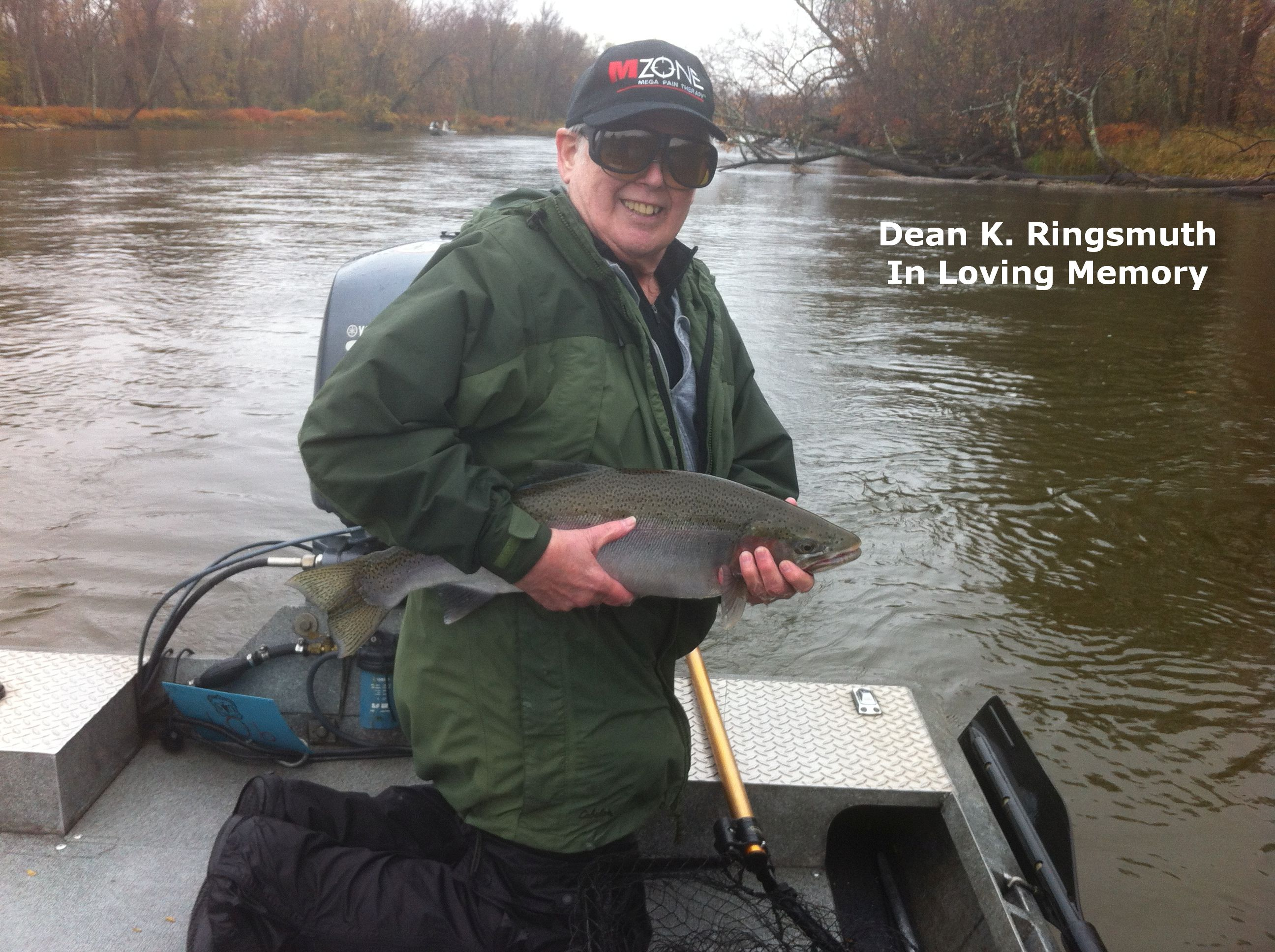 Dean loved fishing and all rivers. He helped Norm clean the river whenever he could. We miss him.